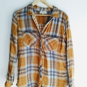 Cloth & Stone Cotton Flannel Shirt